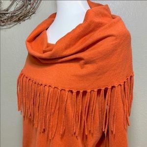 Michael Kors orange fringe sweater size XL